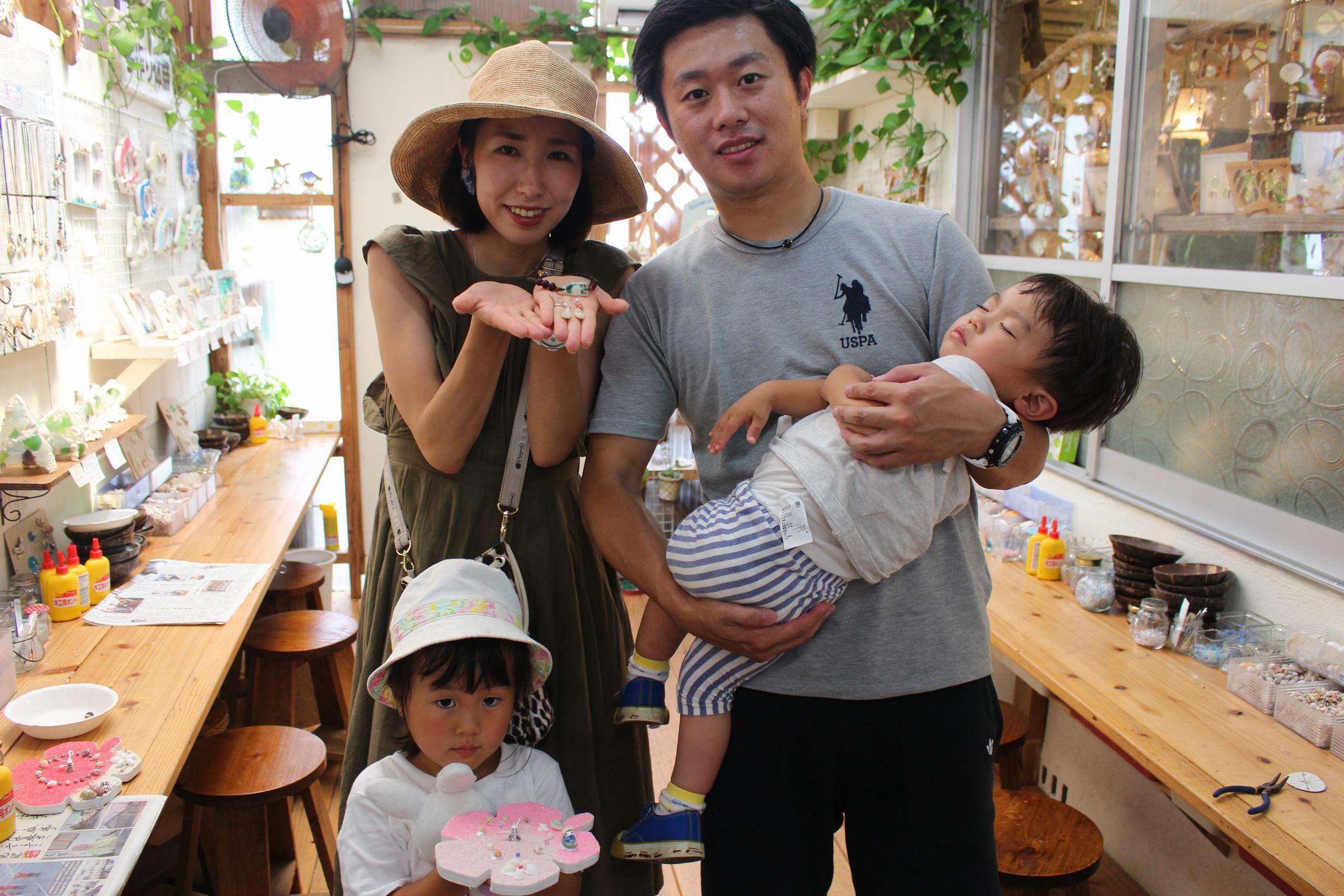 沖縄 夜光貝アクセサリー手作り体験 AKI工房