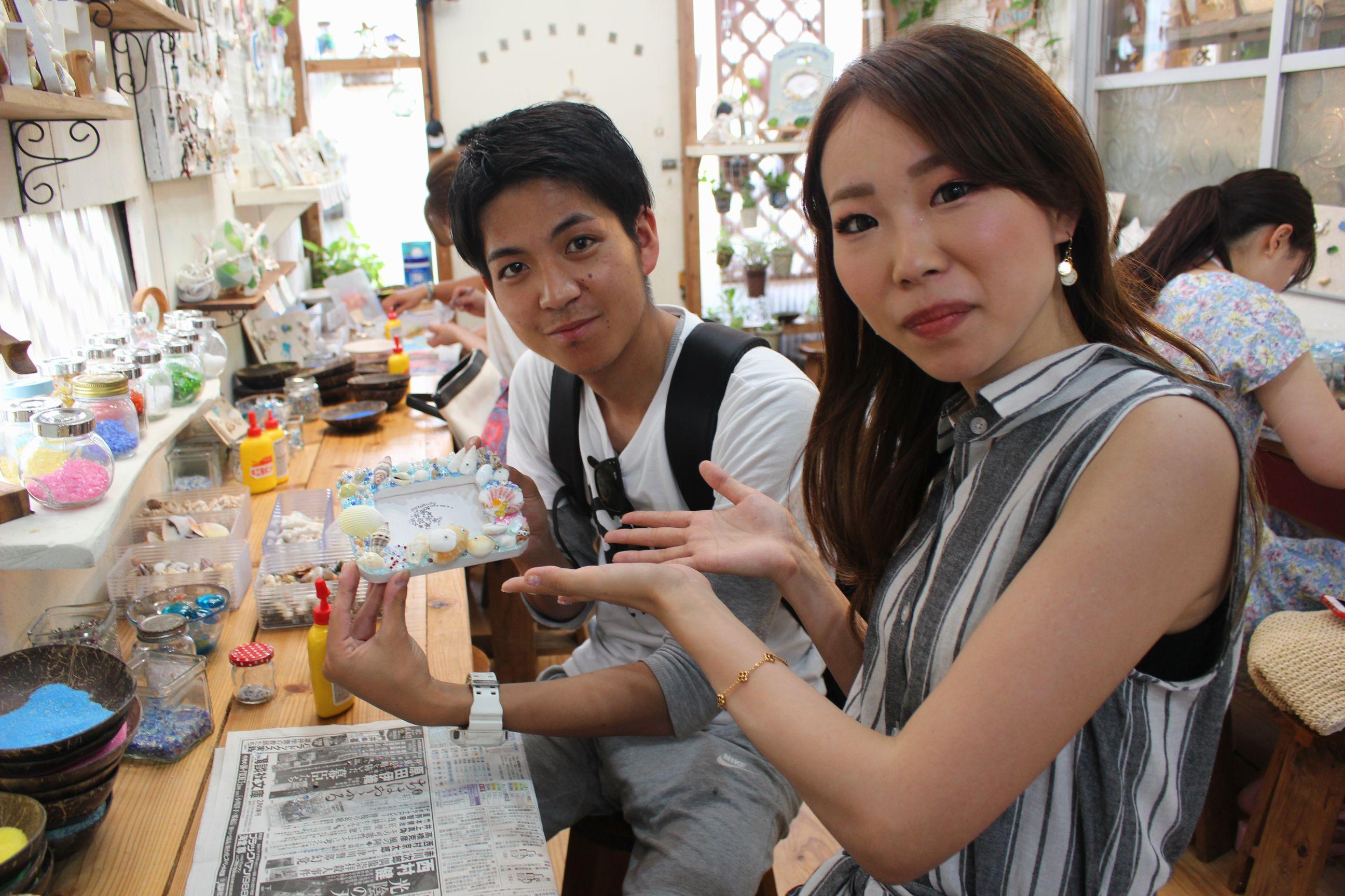 沖縄 手作り体験 AKI工房 フォトフレーム