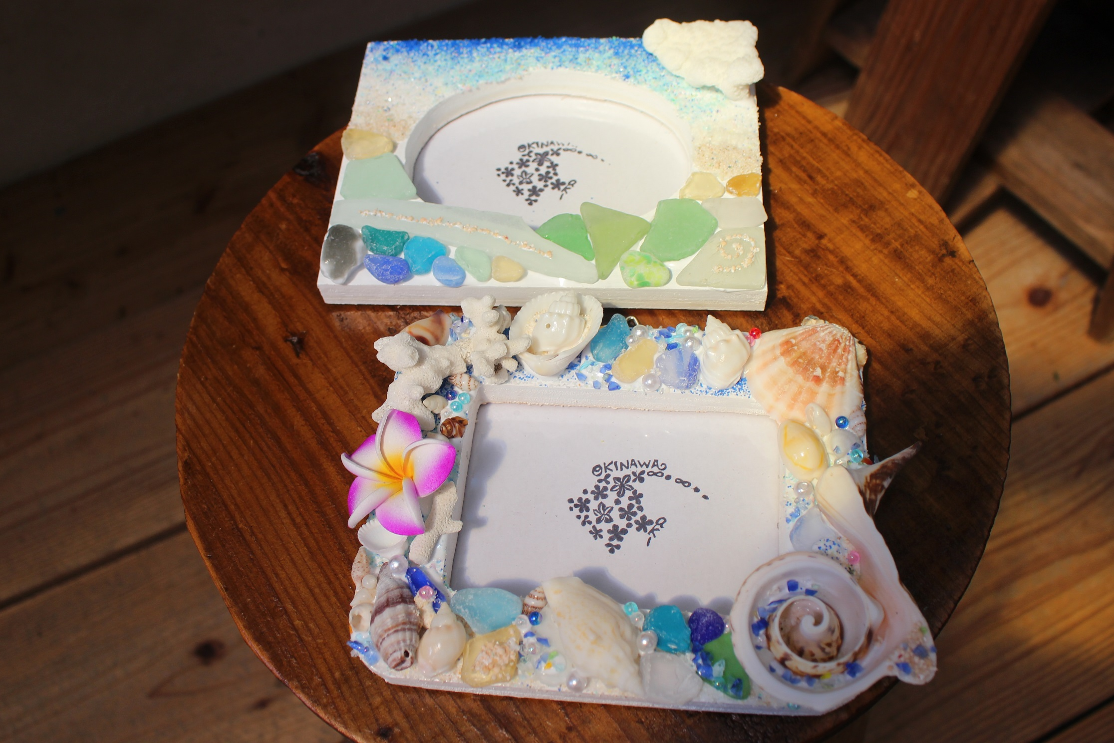 沖縄県 恩納村 AKI工房 手作り体験 貝殻雑貨